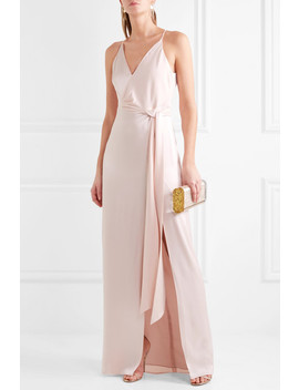 Tie Front Satin Gown by Halston Heritage
