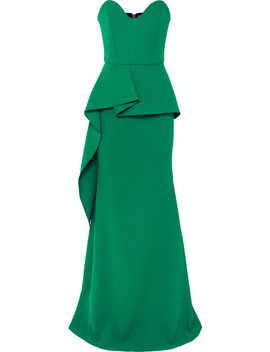 Strapless Wool Crepe Peplum Gown by Roland Mouret