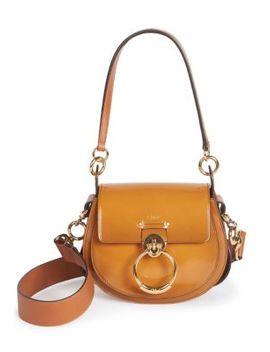 Medium Tess Patent Leather Saddle Bag by Chloé