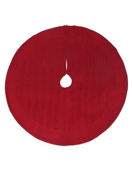 Red Cable Knit Christmas Tree Skirt   Wondershop™ by Shop This Collection