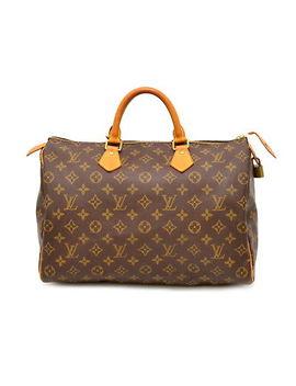 Authentic Louis Vuitton Speedy 35 Mini Boston Hand Bag Monogram Canvas Brown Lv by Louis Vuitton