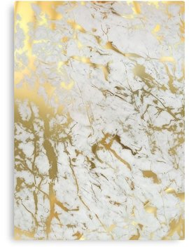 Gold Marble On White (Original Height Quality Print) by Marta Olga Klara