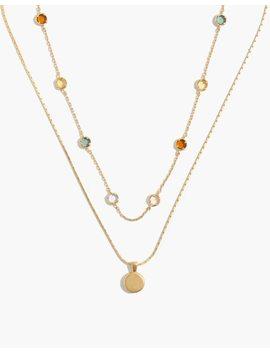 Rainbow Sparkle Necklace Set by Madewell