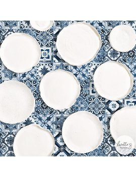 Blue Moroccan Tile Wallpaper / Traditional Or Removable Wallpaper by Etsy