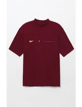 Reebok X Pyer Moss Daytona Experiment Maroon T Shirt by Pacsun