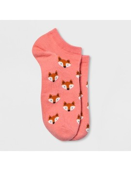 Women's Fox Faces Casual Socks   Xhilaration™ Pink One Size by Xhilaration