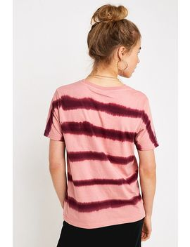 Uo Pink Tie Dye Stripe Short Sleeve T Shirt by Urban Outfitters