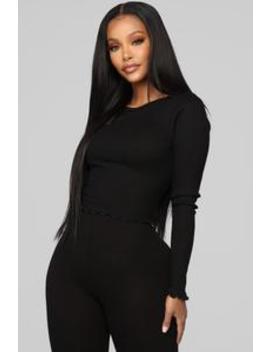 My Sensual Top   Black by Fashion Nova