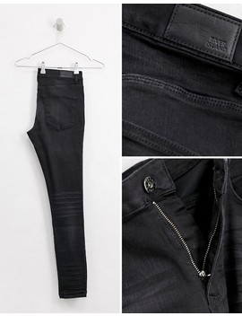 River Island Spray On Skinny Jeans In Black Wash by River Island