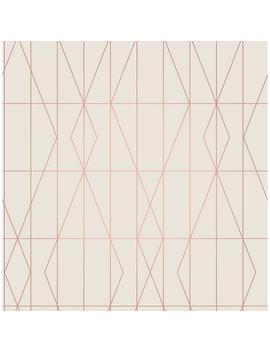 56.4 Sq. Ft. Le Veque Cream Deco Diamond Geo Wallpaper by Brewster