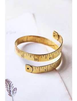 Gold Measure Tape Bangle,Gold Measure Tape Cuff,Gold Measure Tape Bracelet,Gold Textured Measure Tape Hand Cuff,Measure Tape Cuff by Etsy