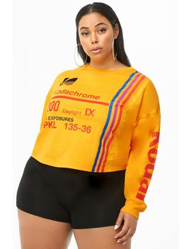 Plus Size Kodak Graphic Top by Forever 21