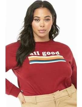 Plus Size All Good Graphic Top by Forever 21