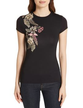 Hallie Pirouette Fitted Tee by Ted Baker London