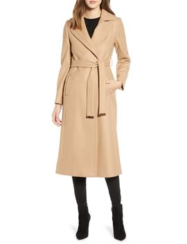 Wide Lapel Long Wool Coat by Ted Baker London