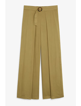 Wrap Style Trousers by Monki