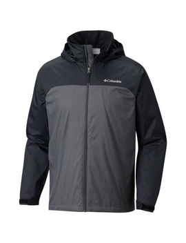 Columbia Men's Glennaker Lake Lined Rain Jacket Grill/Black Style #1771351 by Columbia