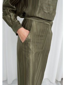 Tailored Jacquard Stripe Trousers by & Other Stories