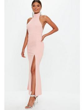 Petite Blush Choker Maxi Dress by Missguided