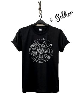 Planet Shirt Galaxy T Shirt Galaxy Graphic T Shirt Clothing Shirt O Neck Unisex by Etsy
