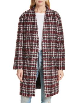 Twisted Plaid Bouclé Tweed Coat by Iro