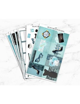 Breakfast At Tiffanys Planner Sticker Kit | Erin Condren Life Weekly Stickers | Eclp | Mambi Happy | Scrapbooking | Fashion | Book Quote by Etsy