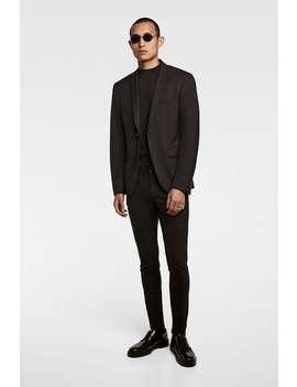 Blazer In Extra Skinny Fit  Casual Kostuums Heren by Zara