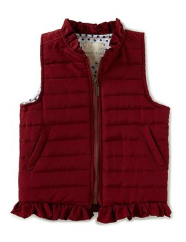 Little Girls 2 T 6 X Ruffle Puffer Vest by Copper Key