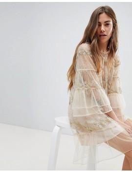 Stevie May – Miniklänning Med Spets Och Lång ärm by Asos