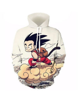 Anime Dragon Ball Z Pocket Hooded Sweatshirts Kid Goku 3 D Hoodies Pullovers Men by Cloudstyle