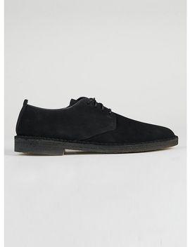 Clarks Originals Black Suede Desert Shoes by Topman
