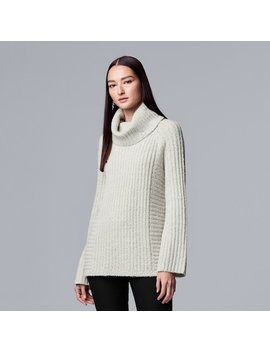 Women's Simply Vera Vera Wang Ribbed Cowlneck Tunic Sweater by Kohl's