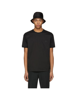 Black Poplin Tech T Shirt by Prada
