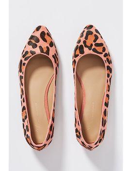 Leopard Print Calf Hair Flats by Anthropologie