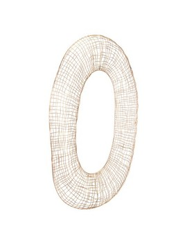 "Zm Home 36"" Modern Geometric Wall Sculpture Gold by Zm Home"