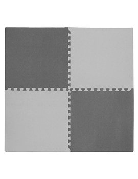 "Tadpoles 4 Piece Squares Playmat Set, Light Gray/Dark Gray, 24"" by Tadpoles"