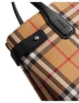 Banner Small Vintage Check Tote Bag by Burberry
