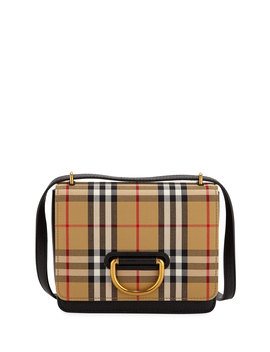 Small D Ring Check Crossbody Messenger Bag by Burberry