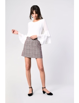 **Check Skirt By Glamorous Petites by Topshop