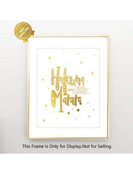 Disney Lion King Hakuna Matata Gold Foil Wall Art Print Disney Print Kids Bedroom Wall Art Kids Decor V01 by Etsy