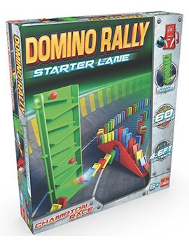 Goliath Games Domino Rally Starter Lane   Dominoes For Kids   Classic Tumbling Dominoes Set by Goliath Games