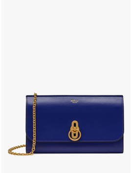 Mulberry Amberley Silky Calf's Leather Clutch Bag, Cobalt Blue by Mulberry