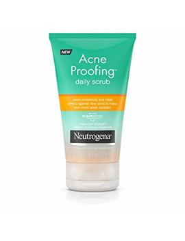 Neutrogena Acne Proofing Daily Facial Scrub With Salicylic Acid Acne Treatment, Exfoliating And Cleansing Face Wash, Oil Free, 4.2 Oz by Neutrogena