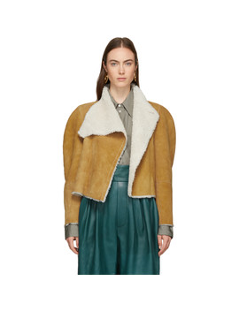 Reversible Brown Shearling Acacia Wild West Jacket by Isabel Marant