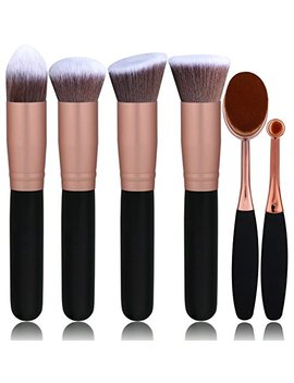 Bs Mall Face Foundation Powder Liquid Cream Oval Makeup Brushes Set Synthetic Makeup Brushes(Pack Of 6) by Bs Mall