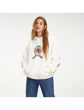 Repeat Crest Sleeve Hoody by Tommy Hilfiger