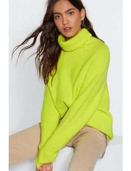 Don't Mention Knit Turtleneck Sweater by Nasty Gal