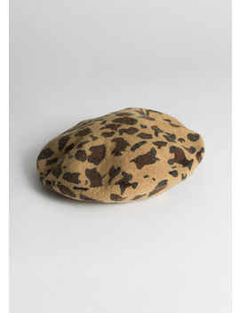 Leopard Wool Blend Beret by & Other Stories
