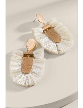 Lana Statement Tassel Earrings In Ivory by Francesca's