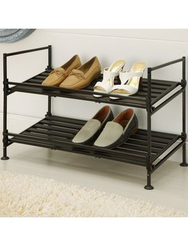 Oia 2 Tier 6 Pair Shoe Rack & Reviews .Ca by Organize It All